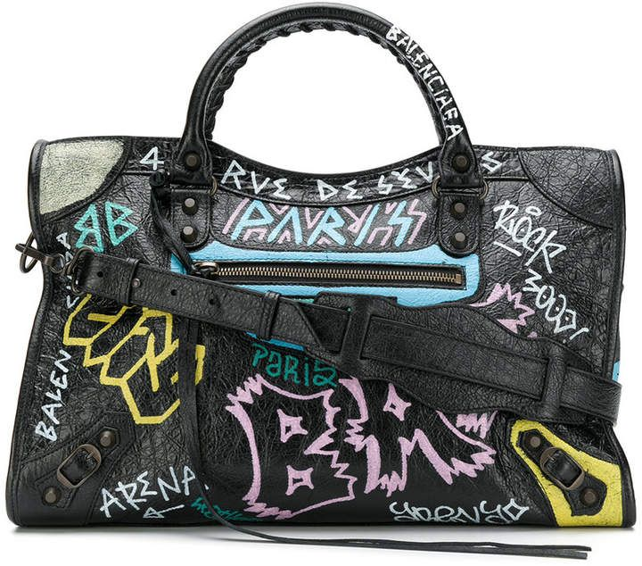 Balenciaga Classic City Graffiti Long Strap bag  f6d1727ca0160
