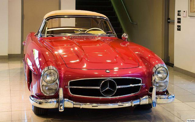 1957 Mercedes Benz 300 Sl Roadster Strawberry Red Metallic