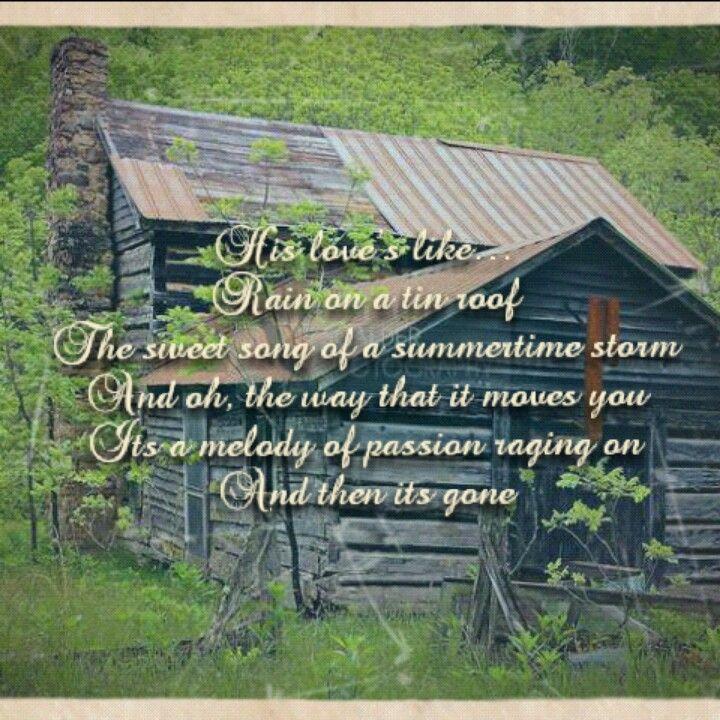 Rain On A Tin By Julie Roberts Country Music Lyrics Country Lyrics Favorite Lyrics