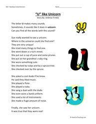 Second Grade Reading Comprehension Worksheet - Y Like Fly ...