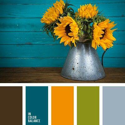 Yellow Blue Green Color Scheme
