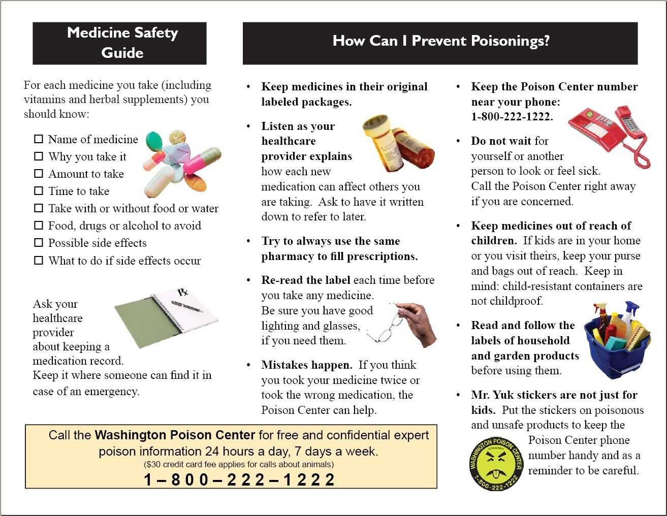 Wapc Medication Safety Brochure Page   Education Materials