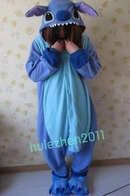 17052f108bb Animal adulto Kigurumi Pijama Disfraz Cosplay Pijamas Punto Azul Angel Lilo
