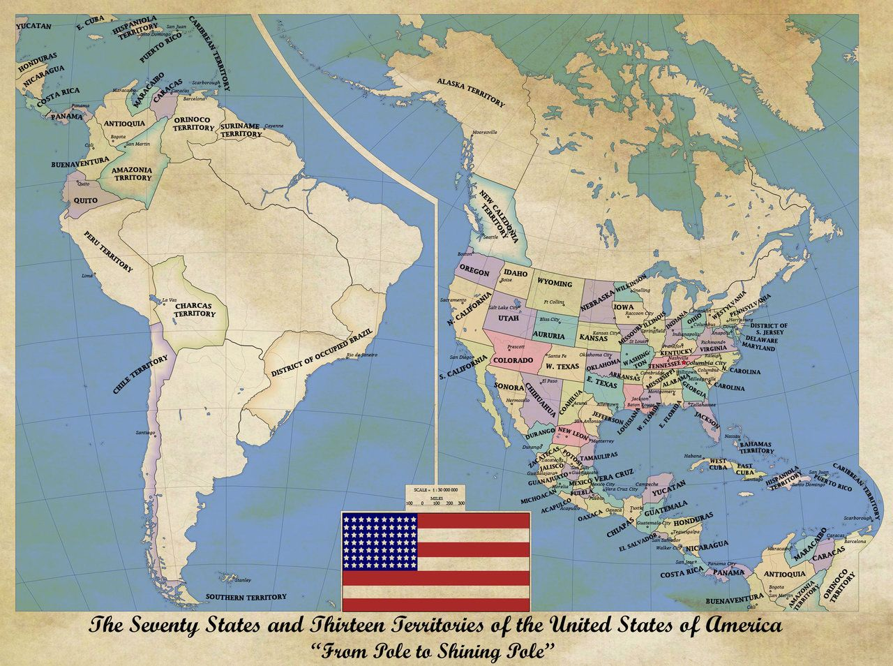 Alternate history maps of America Alternate history