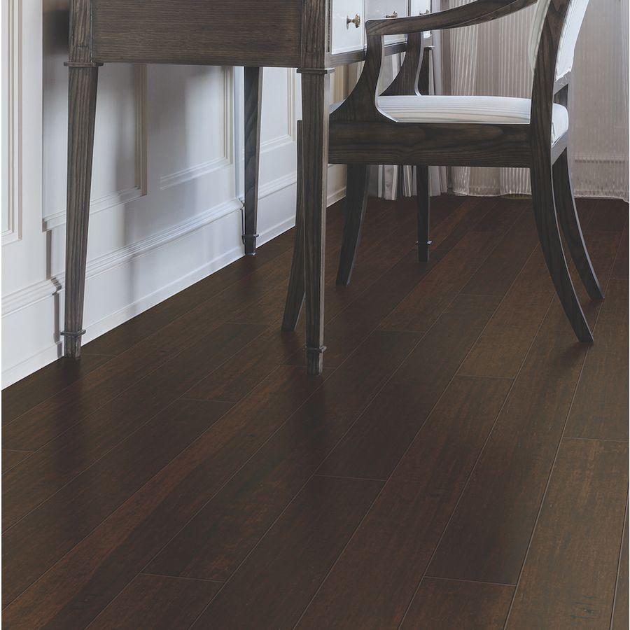 Natural Floors By Usfloors 5 In Dark Java Handscraped Bamboo Hardwood Flooring 14 85 Sq Ft Lowe S Natural Flooring Engineered Hardwood Hardwood Floors