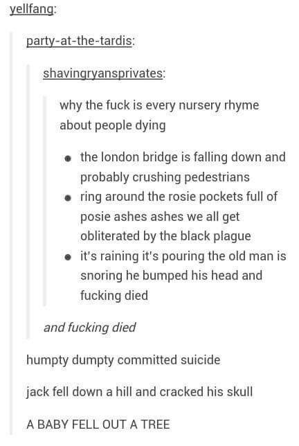 Nursery rhymes with a twist