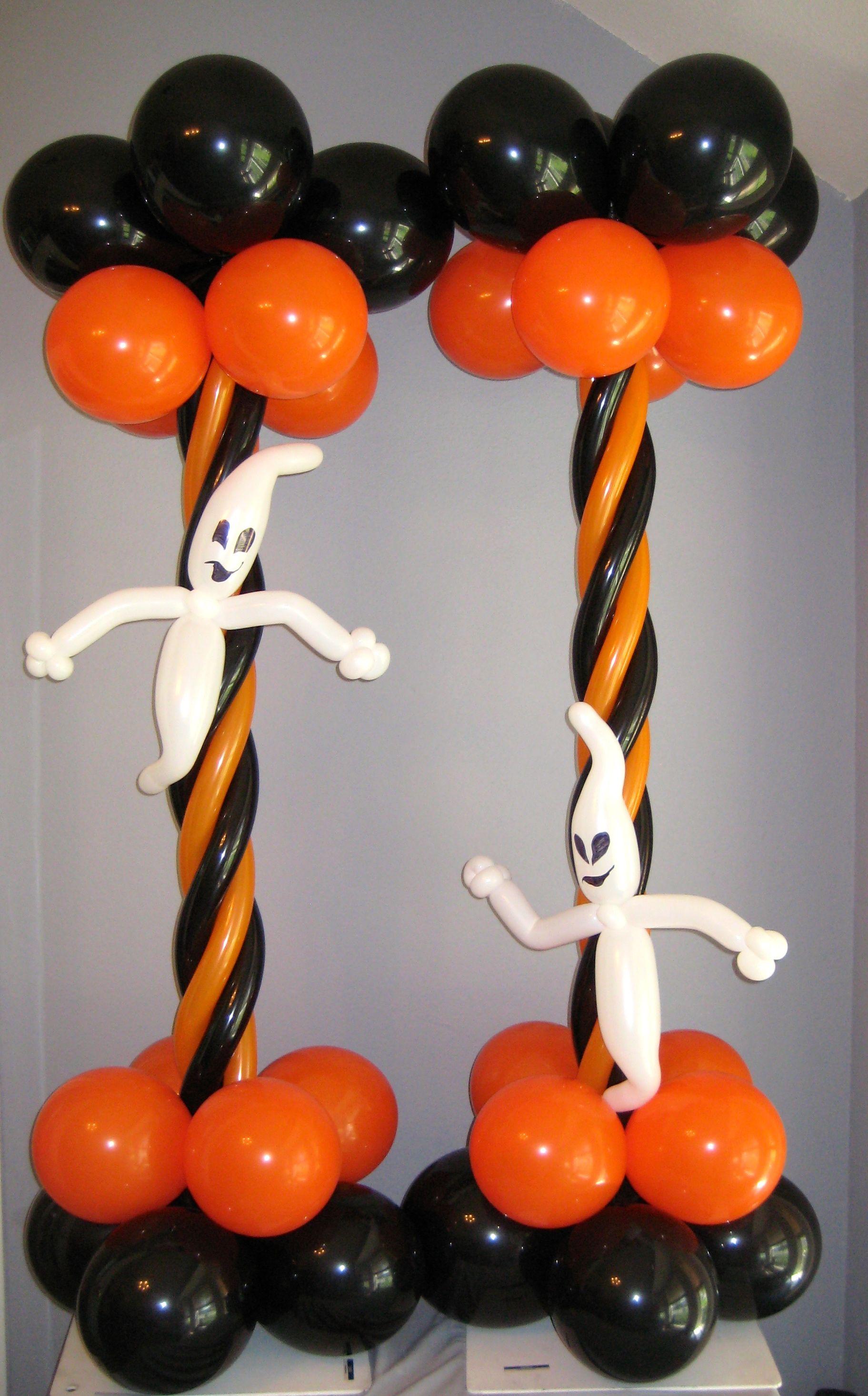 halloween balloon column halloween balloon decoration. Black Bedroom Furniture Sets. Home Design Ideas