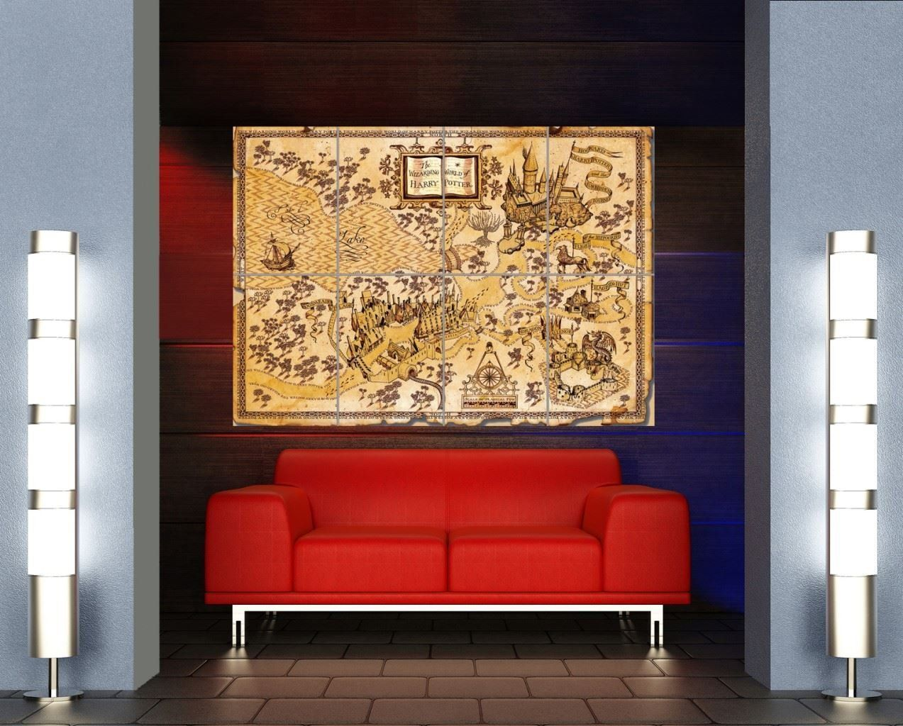 Amazon harry potter wizarding world map giant poster x3197 amazon harry potter wizarding world map giant poster x3197 posters prints gumiabroncs Gallery