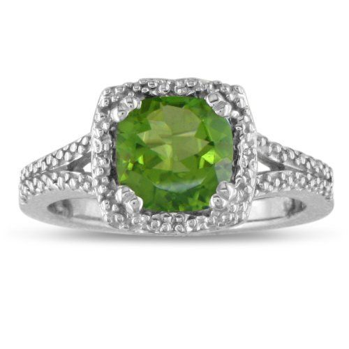 2ct Peridot and Diamond Ring in Sterling Silver, Available Ring Sizes 4 - 9.5, Ring Size 6 SuperJeweler, http://www.amazon.com/dp/B004LJY7GO/ref=cm_sw_r_pi_dp_Hwnbqb0A001MX