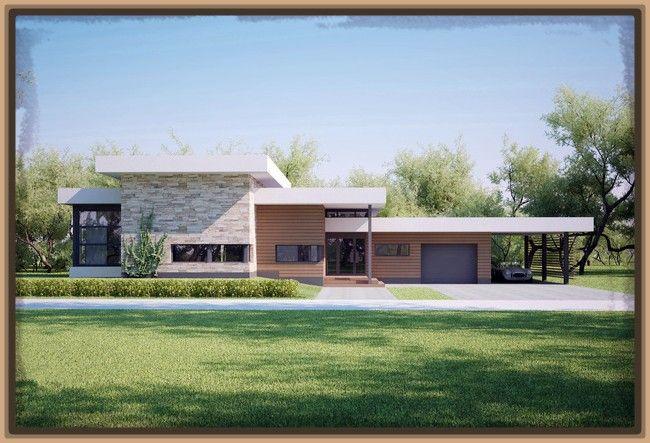 Fachadas de casas modernas pequenas de una planta for Casas pequenas de una planta modernas