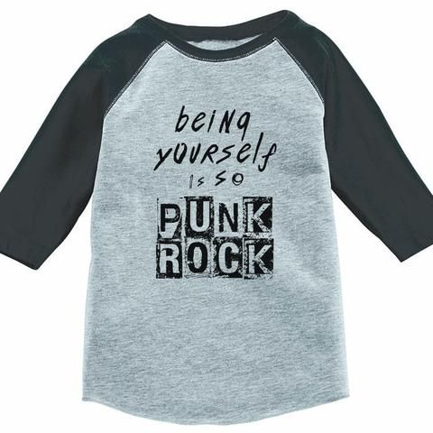 Being Yourself Is So Punk Rock Kids Baseball Tee