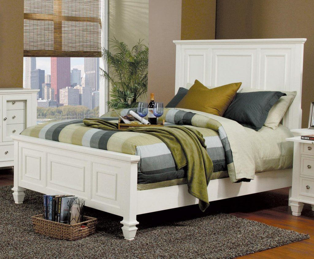 Glenmore White Panel Queen Size Bed at GoWFB.ca ! FREE