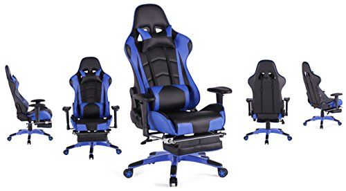 Top Gaming Chair Ab Cruncher Cheap Gamer Ergonomic High Back Swivel Computer Office With Footrest Adjusting Headrest