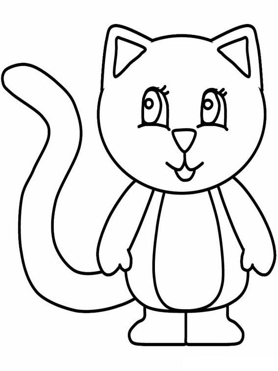 Раскраски для малышей 2-3 года. Скачайте или распечатайте онлайн! Cat  Coloring Page, Puppy Coloring Pages, Coloring Pages