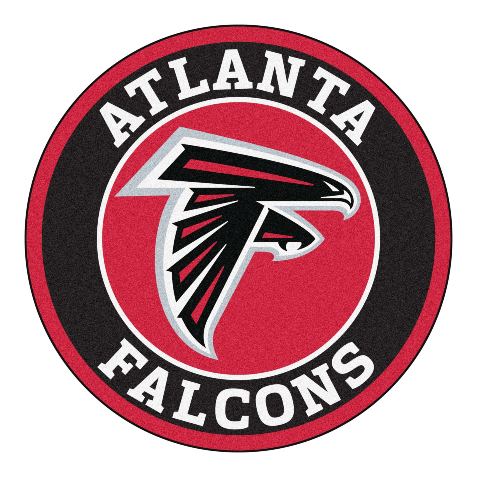 For All Those Nfl Fans Out There These 27 Round Rugs Featuring The Atlanta Falcons Logo And Col Atlanta Falcons Logo Atlanta Falcons Atlanta Falcons Football