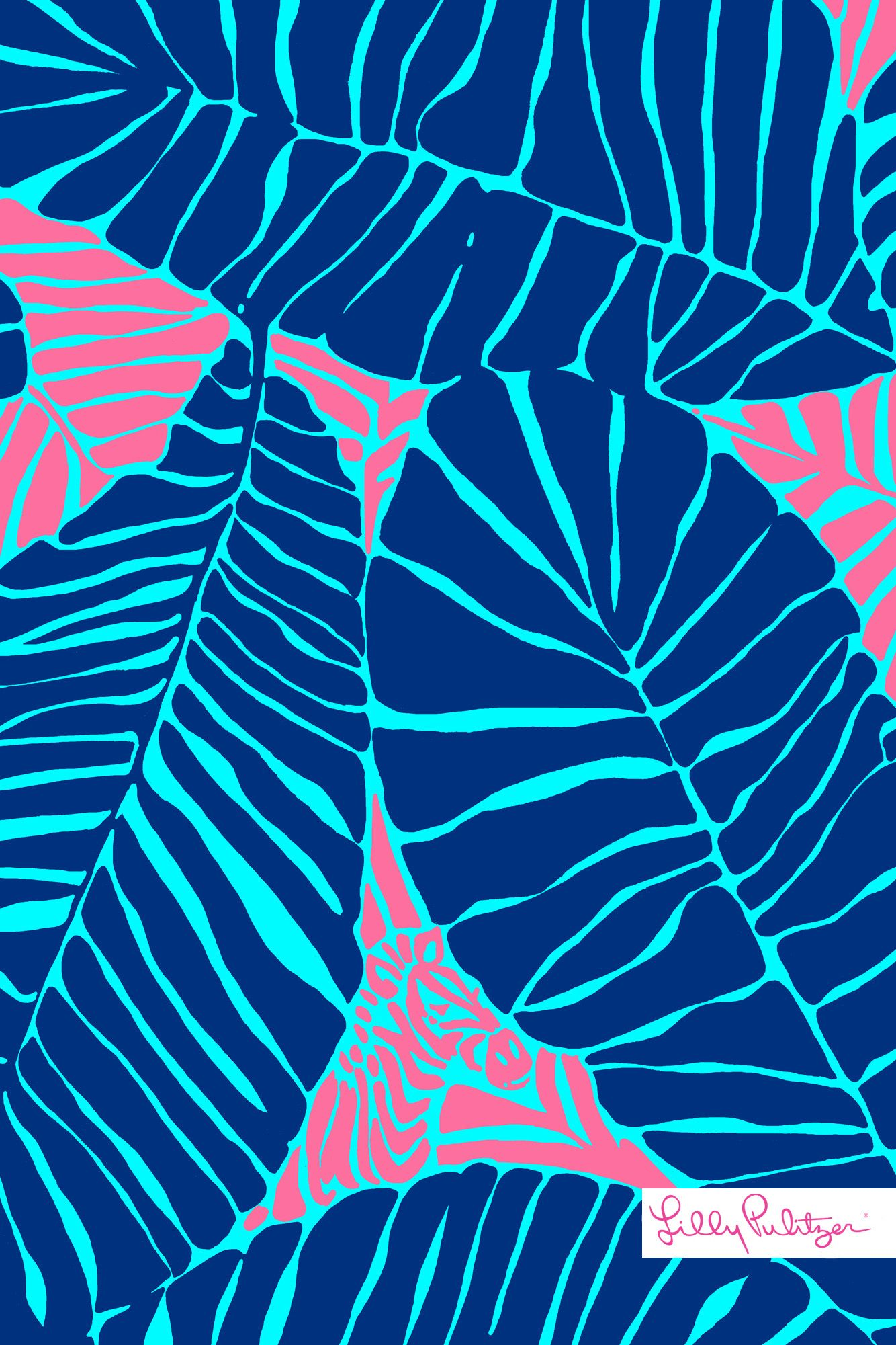 Lilly pulitzer under the palm iphone wallpaper patterns - Lilly pulitzer iphone wallpaper ...