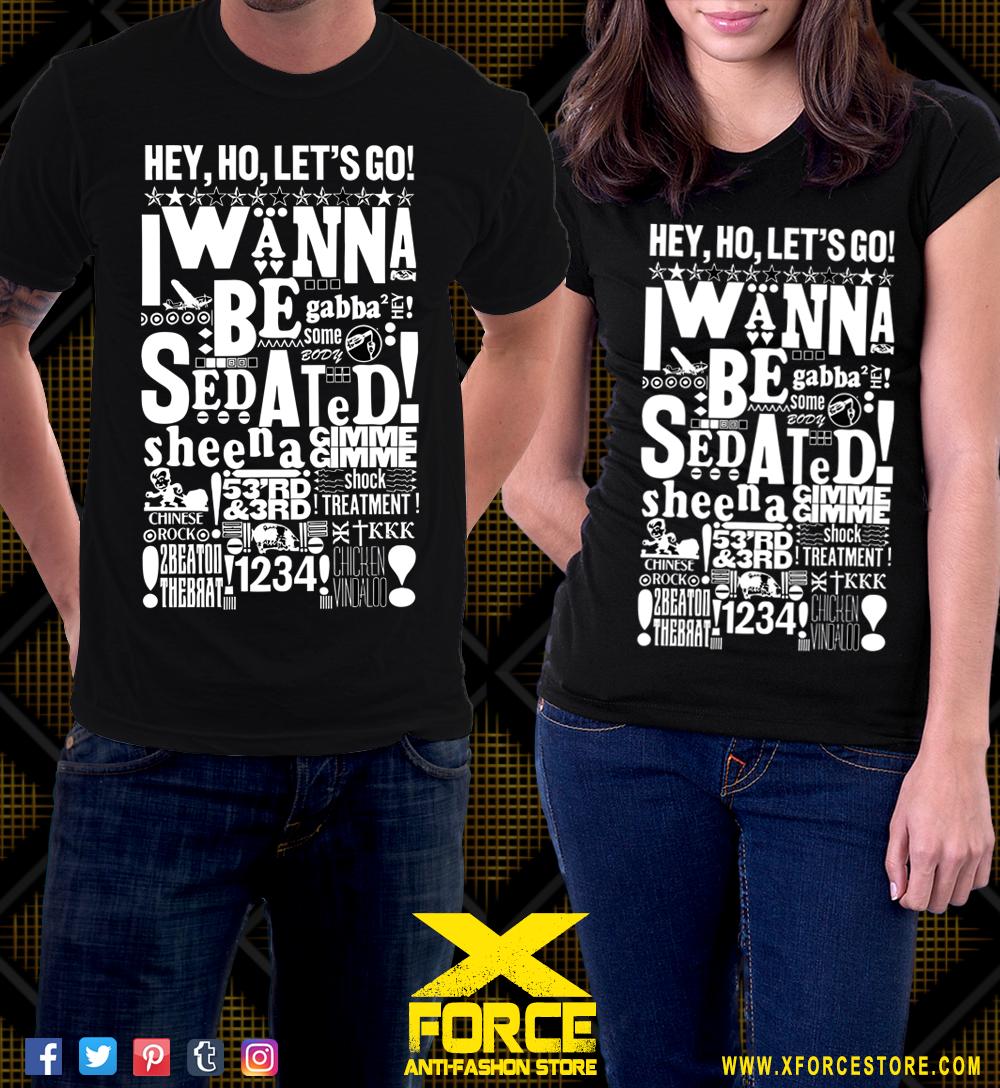 Camiseta Ramones Joey Ramone Hey Ho Lets Go