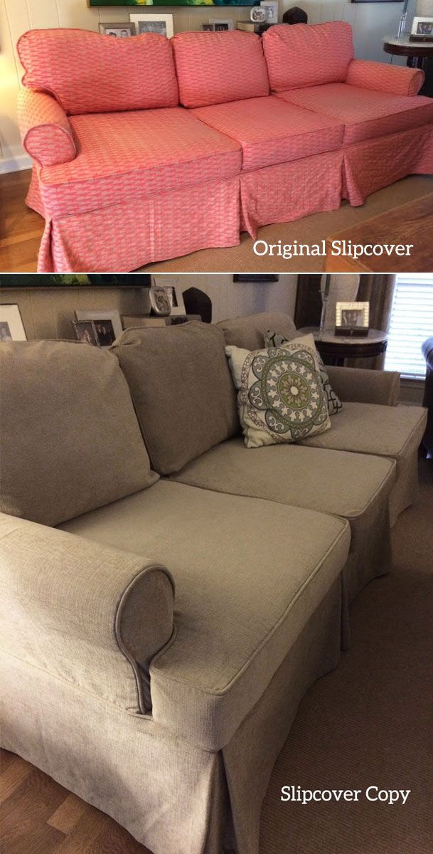 What Is A Slipcover Copy It S New I Make By Replicating Your Old One Take Apart And Use As Pattern To Cut Sew