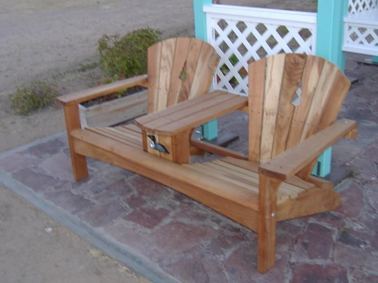 Double adirondack chair plans free projects pinterest for Adirondack house plans
