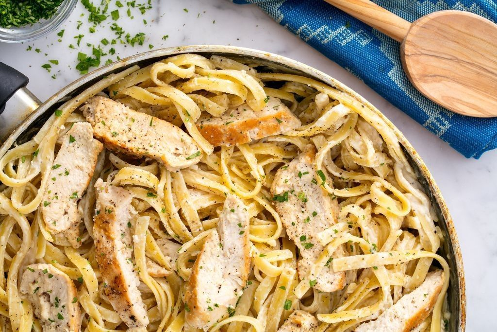 Chicken Fettuccine Alfredo Resep Makanan Lauk Makan Malam Makanan