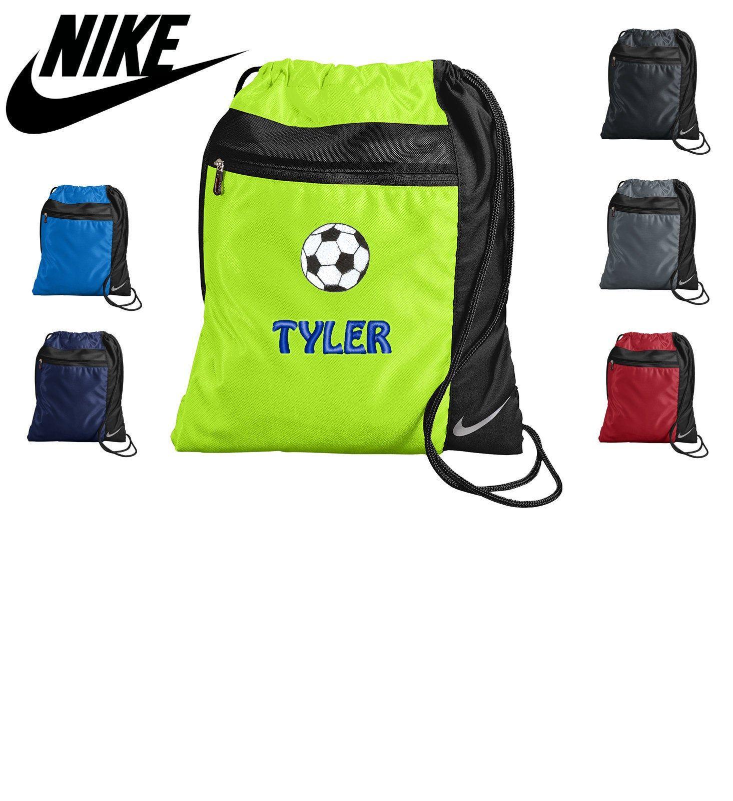 Personalized Nike Soccer Cinch Pack Drawstring Gym School