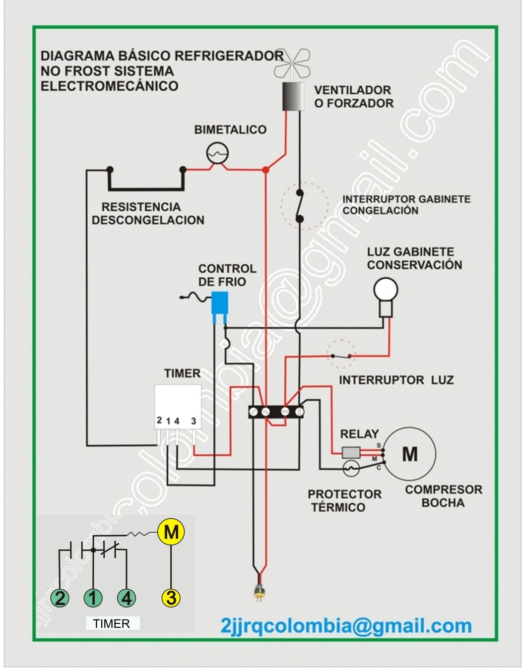 Diagrama Electrico No Frost Jpg 1052 1355 Air Conditioner Maintenance General Electric Diagram