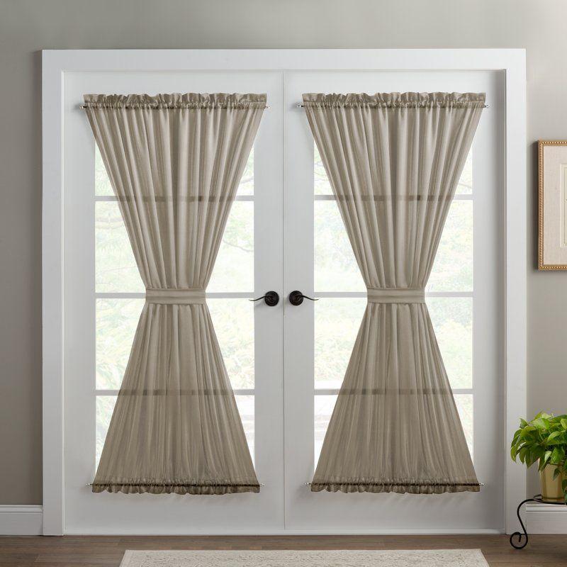 Wayfair Basics Wayfair Basics Solid Room Darkening Thermal Rod Pocket Single Curtain Door Panel Revie Door Panel Curtains Door Curtains French Door Curtains
