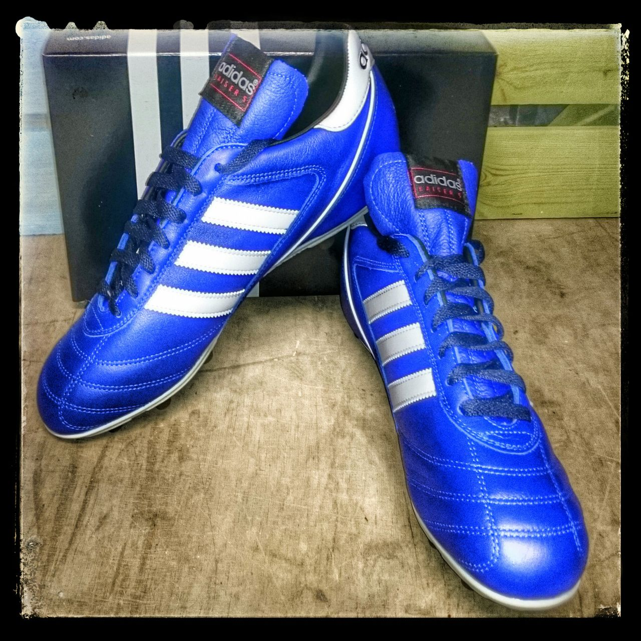 Adidas kaiser 5 liga fg royal bluewhite football