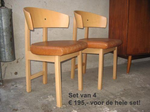 Bruine Leren Stoel : Stoere stoelen x4 hout leer eetkamerstoel bruine leren stoel