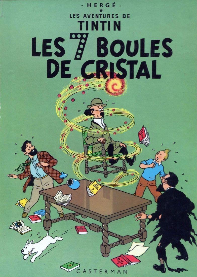 6648 Herge Les Aventures De Tintin Les 7 Boules De Cristal Poster
