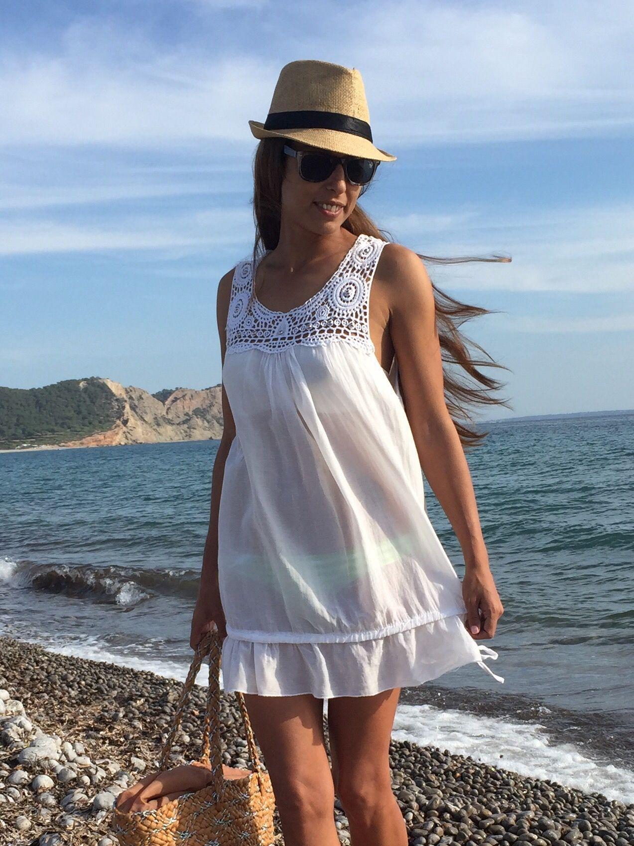 marvellous outfit vestido blanco playa 13