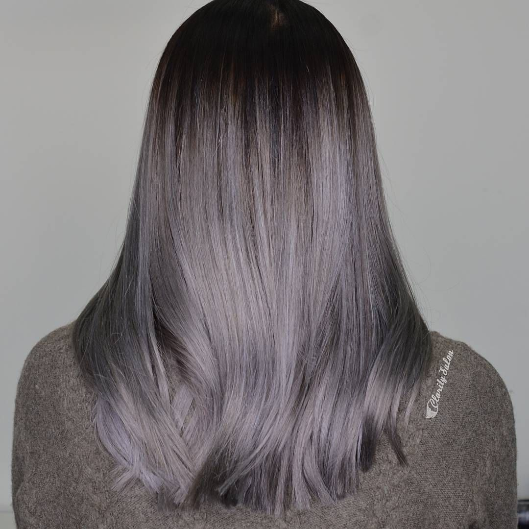 @claritybeauty absolutely nailed this Metallic Silver-grey using #luxurycolour and we're obsessed!#silverhair #greyhair #hairinspo #hairgoals #TheNAKCollective #NAKhair