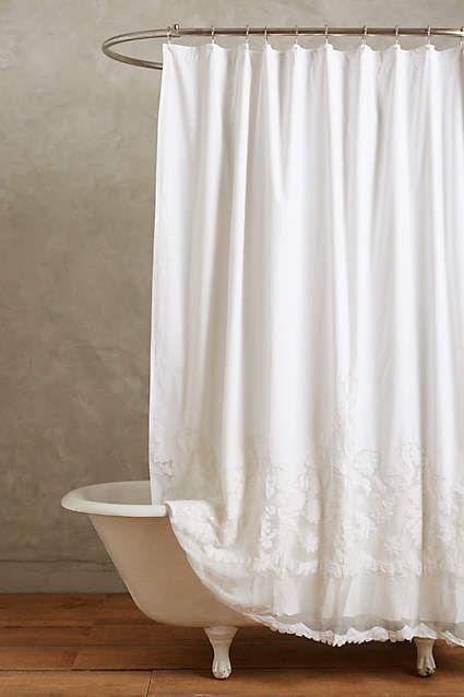 Caprice Shower Curtain White Shower Curtain Bathroom White