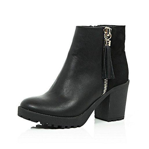 Grosses bottines noires - bottines - Chaussures / bottes - femme