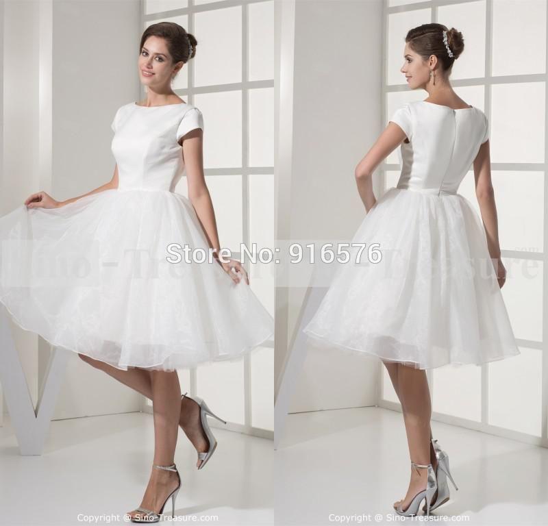 2015 Cheap Wedding Dress With Sleeveless Ball Gown Short Skirt Under ...