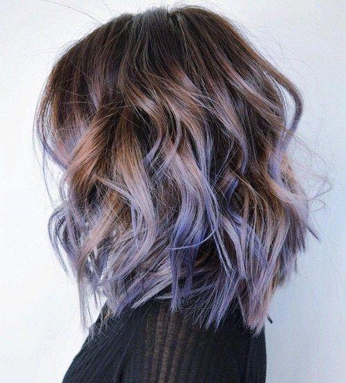 Balayage Lo Mas Trendy Del Momento Lavender HighlightsBrown Hair Purple