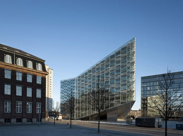 the crystal schmidt hammer lassen architects danish architecture copenhagen architecture office building