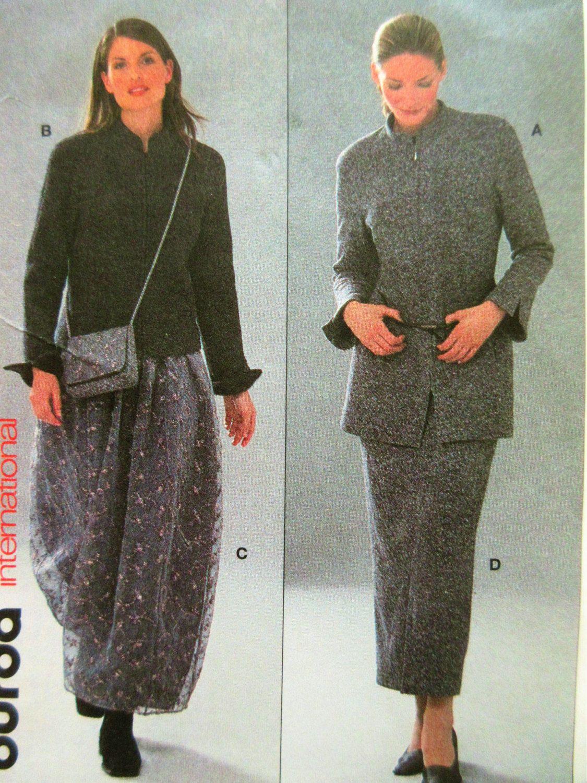 Burda 8849 Sewing Pattern, Jacket Pattern, Straight Skirt Pattern ...