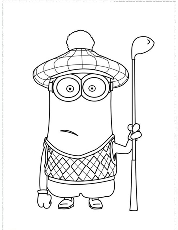 Tim Giggling Golf Coloring Pages Minion Coloring Pages Minions Coloring Pages Coloring Pages