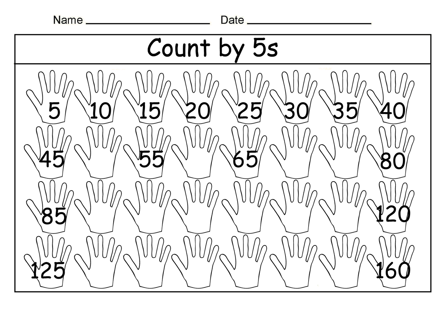Skip Count By 5 Worksheet Fun