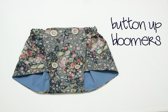 button up bloomers - from 1 piece of fabric with 4 botton closure ...
