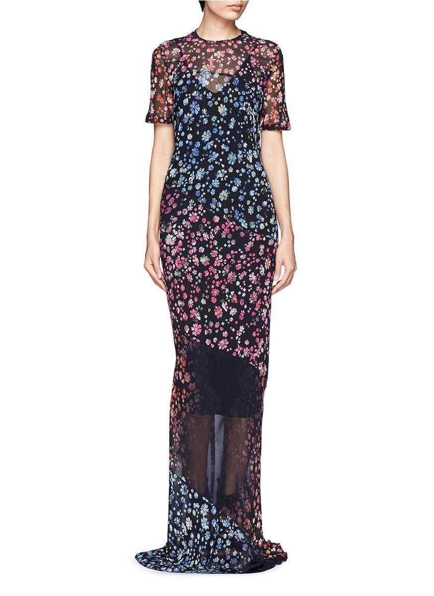 Elli floral print maxi dress floral print maxi dress
