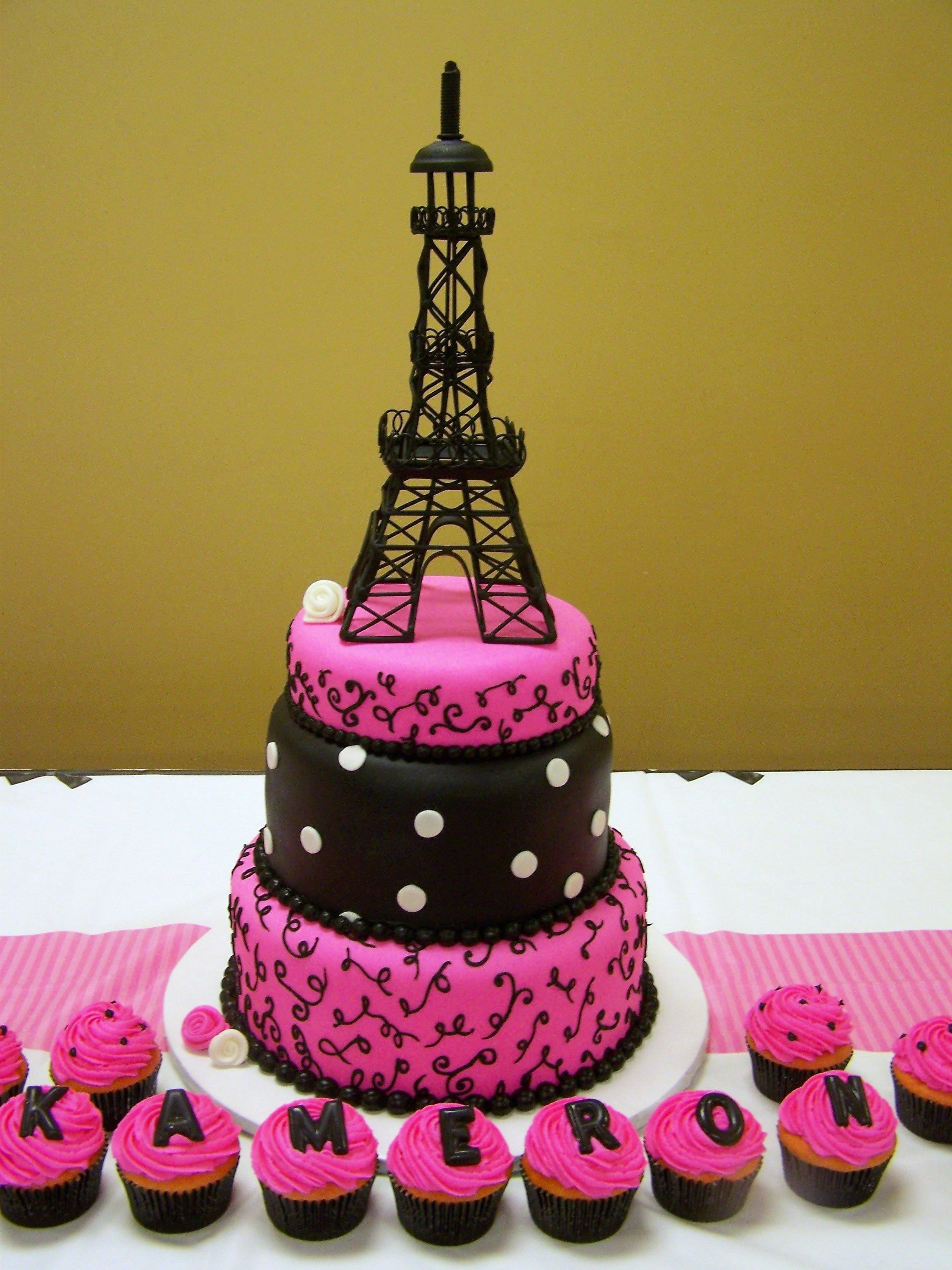I Need Ideas For Decorating My Living Room: Paris Themed Cake