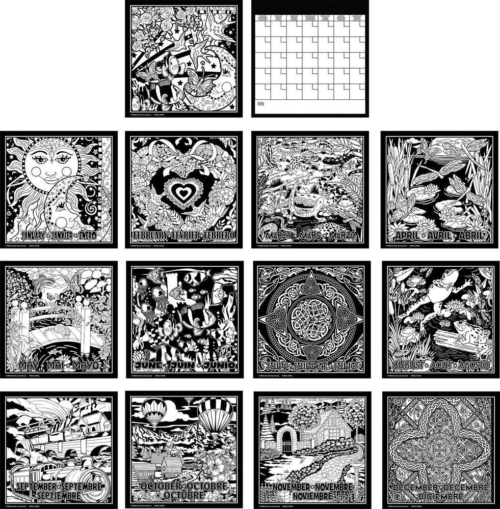 roseart fuzzy poster calendar spiral bound 12 month calendar 6