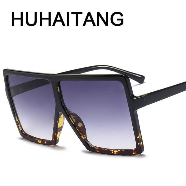 36ab7ae844  FASHION  NEW Square Sunglasses Women Big Frame Sun Glasses Oculos Feminino Fashion  Sunglasses-