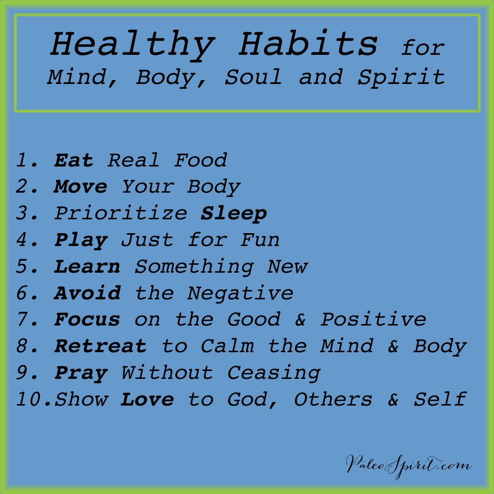 good health habits You know that healthy habits make sense, but did you ever stop to think why you practice them these habits improve your well-being and make you feel good.