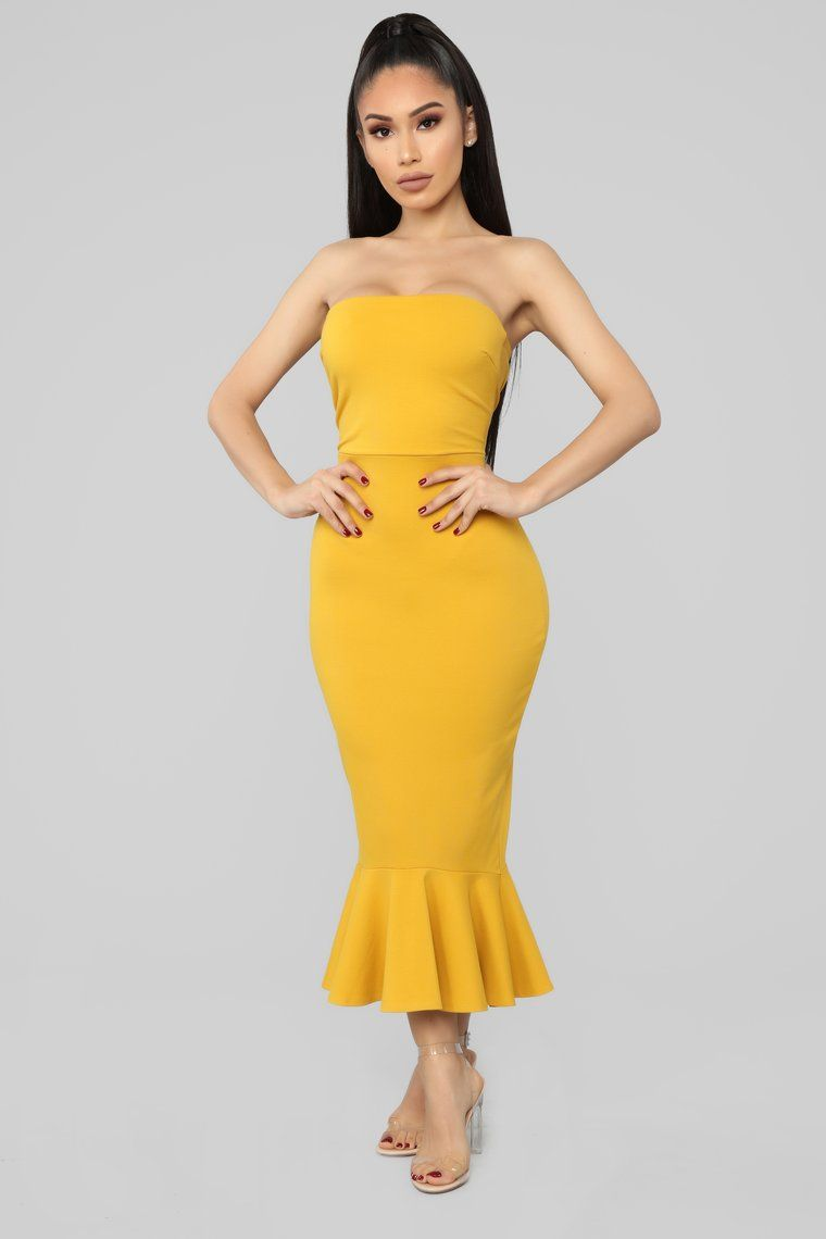 d0fcd732cdab Fit For The Occasion Midi Dress - Mustard in 2019 | Fashion & Style ...