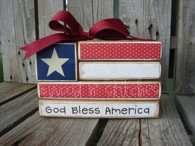 Americana Wood Flag Block, no tutorial but very cute and easy to do