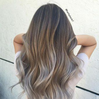 smoky cheveux blonds gris