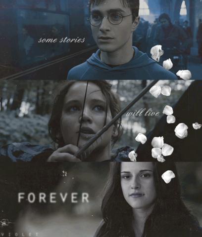 Harry Potter mi infancia....Twilight lo mejor de mi adolescencia y vida...grandes sagas qe marcaron vidas ♥